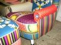 selbstdesignter Sessel und Hocker